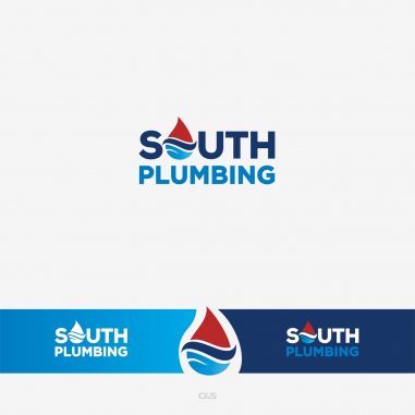 Plumbing Company Logo Design by South plumbing