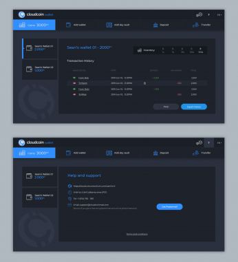 Desktop Software Design by Contest by Cloudcoin wallet