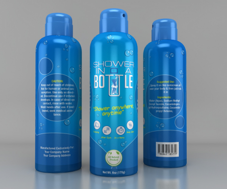 Product Packaging Design by Shower in a bottle
