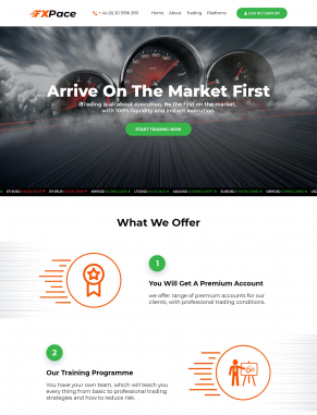 Landing Page Design by FXPace