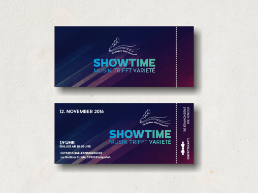 Ticket Design by Showtime