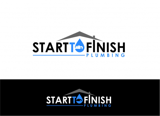 Plumbing Company Logo Design by Start Finish plumbing