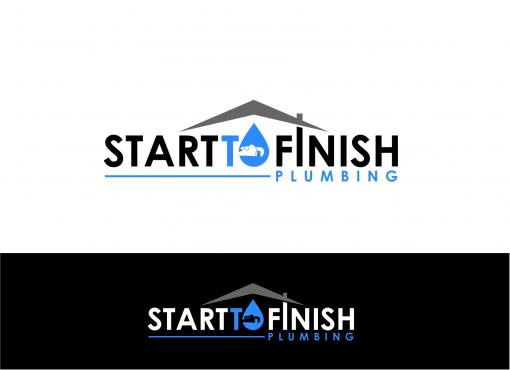 Plumbing Company Logo Design by Start Finish plumbing