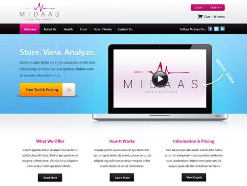 Landing Page Design by Contest by WebStar