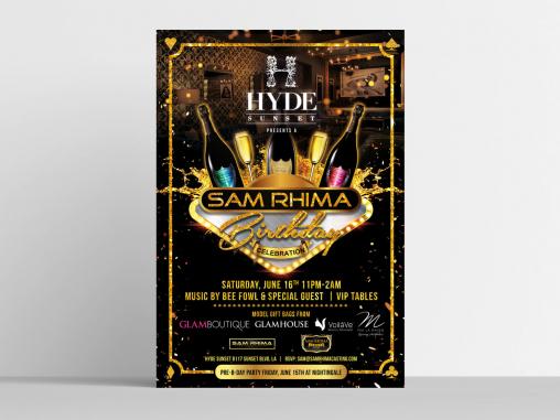 Flyer Design by Sam Rhina Birthday