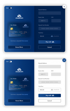 Desktop Software Design by Cloudcoin card