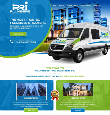 Professional Website Design  by PRI plumbers