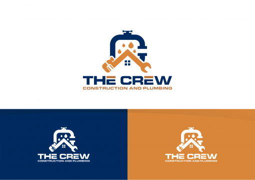 Plumbing Company Logo Design by The Crew Construction and Plumbing