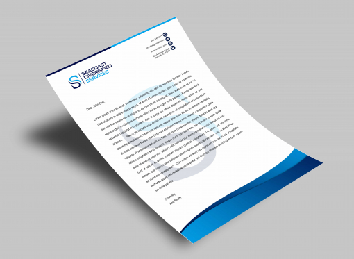 Letterhead Design by Contests by Seacoast Diversified Services
