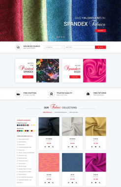 Landing Page Design by Spandex Fabric