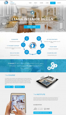Landing Page Design by Contest by The Design Institute