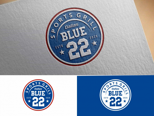 Sport Logo Design — Faster, Higher, Stronger by Sport Grill Dallas Blue