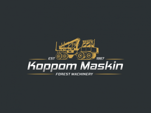 Business Logo Design like nowhere else by Koppom Maskin - Forest Machinery